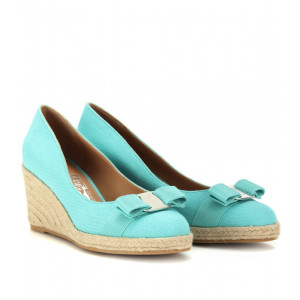 Light Blue Espadrille Wedge